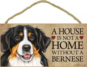 Door Sign - A House is Not A Home Without A Bernese Mountain Dog
