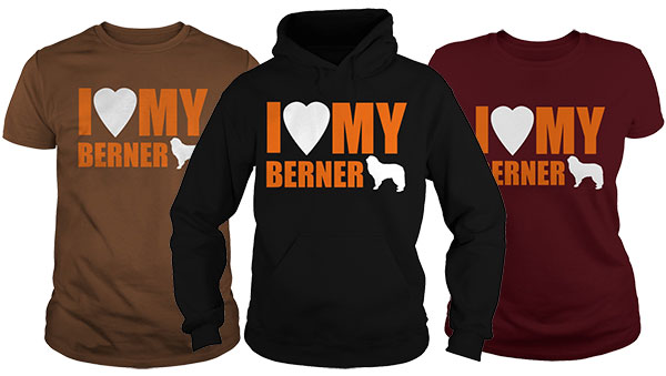 I Heart My Berner Black shirts