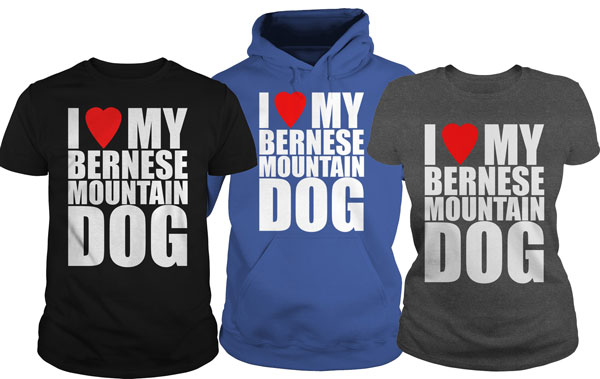 I Heart My Bernese Mountain Dog shirts